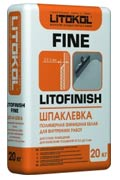 Шпатлевка полимерная гипсовая Литокол LitoFinish Fine